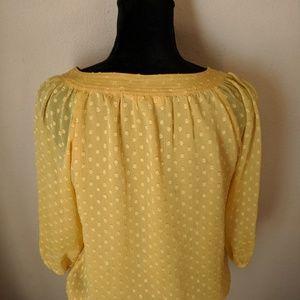 Dress Barn Tops - Sunrise Yellow Semi Sheer Peasant Style Top Small